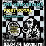 Flyer 10 Jahre Port Royal, mit The Valkyrians und Reggaedemmi